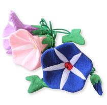 限定商品「季節の香り袋 朝顔(藤・ピンク・紺)」