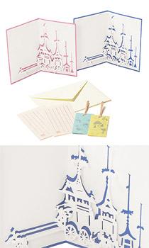 数量限定「祇園祭 切り絵カード (こん色・ばら色)」