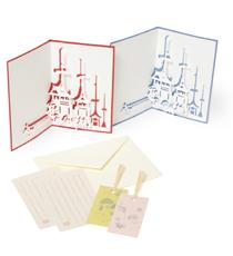 限定商品「切り絵カード 祇園祭(赤色・青色)」