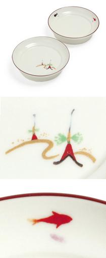 限定商品「色釉丸香皿 祇園祭・金魚」