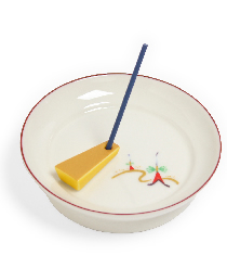 限定商品「色釉丸香皿 祇園祭」 「つまみ香立 くさび 金黄」