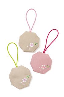 季節の提案商品「匂い袋 さくら 八角形」