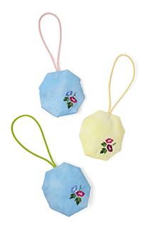 季節の提案商品「匂い袋 朝顔 八角形」